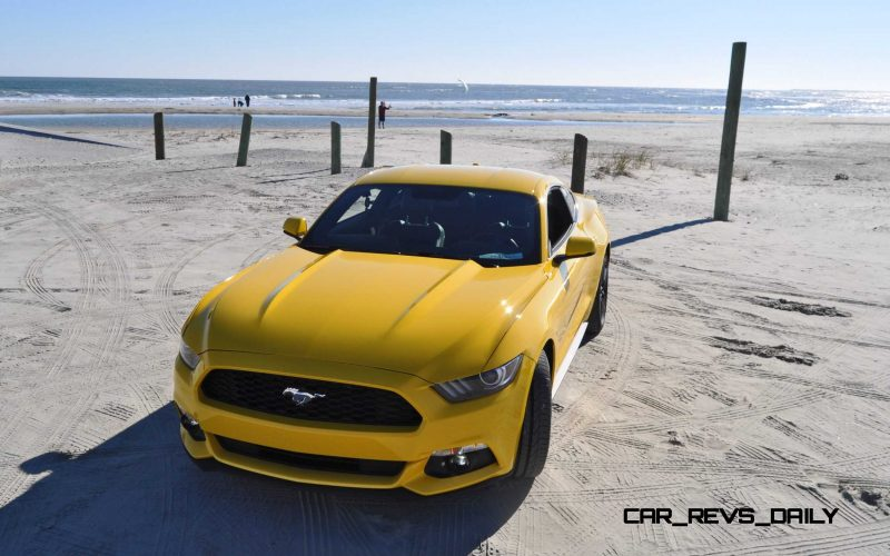 HD Road Test Review - 2015 Ford Mustang EcoBoost in Triple Yellow with Performance Pack 97
