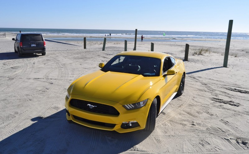 HD Road Test Review - 2015 Ford Mustang EcoBoost in Triple Yellow with Performance Pack 98