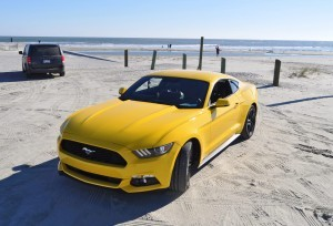 HD Road Test Review - 2015 Ford Mustang EcoBoost in Triple Yellow with Performance Pack 99