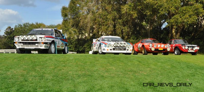 LANCIA Rally Reunion - Stratos, Integrale, Fulvia and 037 Together for Amelia 2015 16