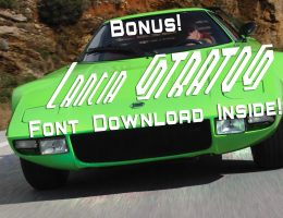 Update1 – 1974 Lancia Stratos HF Stradale In Sublime Green + STRATOS Font Download