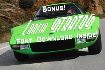 Update1 - 1974 Lancia Stratos HF Stradale In Sublime Green + STRATOS Font Download