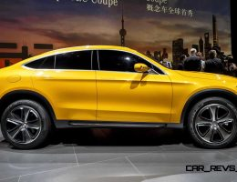 Updated with 35 Shanghai Photos – 2015 Mercedes-Benz GLC Coupe Concept