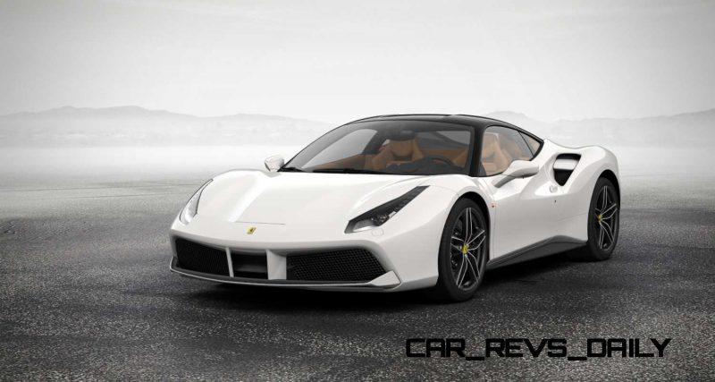 2016 Ferrari 488GTB White 1