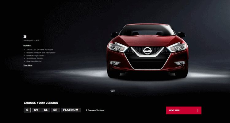 2016 Nissan Maxima Trim Levels Animation Front