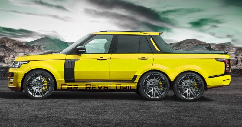 Digital Renderings - StarTech Range Rover 6x6 Long-Box Pickup Truck - 2 Angles + 30 Colors 1 copy