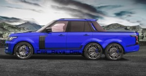 Digital Renderings - StarTech Range Rover 6x6 Long-Box Pickup Truck - 2 Angles + 30 Colors 12 copy