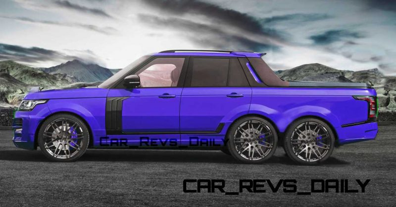 Digital Renderings - StarTech Range Rover 6x6 Long-Box Pickup Truck - 2 Angles + 30 Colors 13 copy
