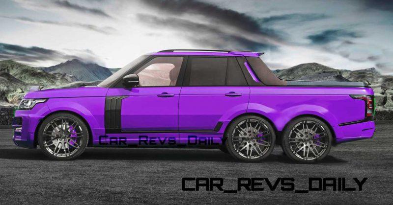 Digital Renderings - StarTech Range Rover 6x6 Long-Box Pickup Truck - 2 Angles + 30 Colors 14 copy