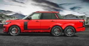 Digital Renderings - StarTech Range Rover 6x6 Long-Box Pickup Truck - 2 Angles + 30 Colors 15 copy