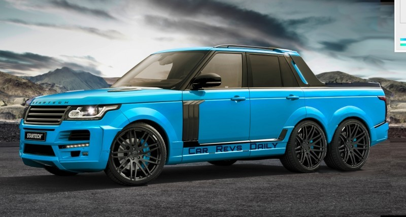 Digital Renderings - StarTech Range Rover 6x6 Long-Box Pickup Truck - 2 Angles + 30 Colors 18