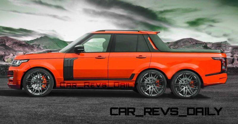Digital Renderings - StarTech Range Rover 6x6 Long-Box Pickup Truck - 2 Angles + 30 Colors 2 copy