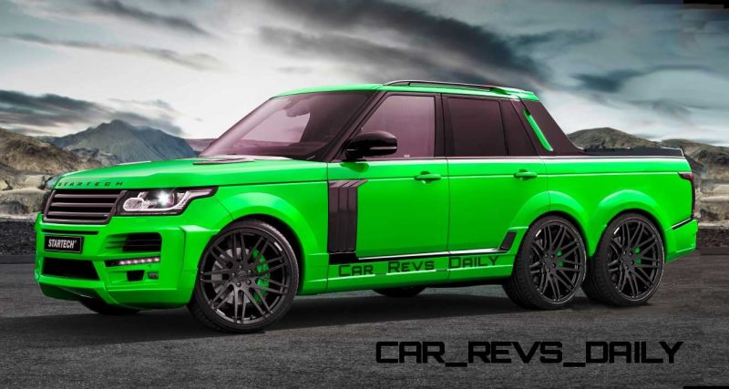Digital Renderings - StarTech Range Rover 6x6 Long-Box Pickup Truck - 2 Angles + 30 Colors 21