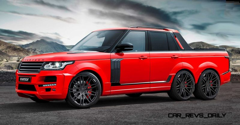 Digital Renderings - StarTech Range Rover 6x6 Long-Box Pickup Truck - 2 Angles + 30 Colors 24