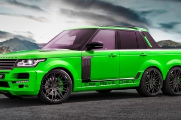 Digital Renderings - StarTech Range Rover 6x6 Long-Box Pickup in 2 Angles + 30 Colors