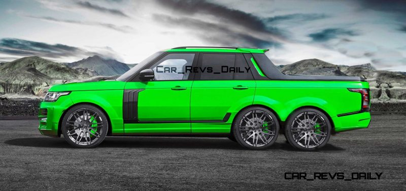 Digital Renderings - StarTech Range Rover 6x6 Long-Box Pickup Truck - 2 Angles + 30 Colors 27