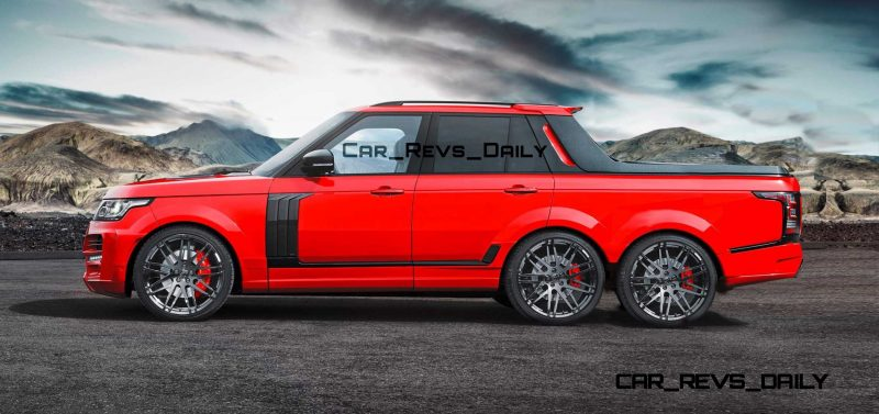 Digital Renderings - StarTech Range Rover 6x6 Long-Box Pickup Truck - 2 Angles + 30 Colors 28