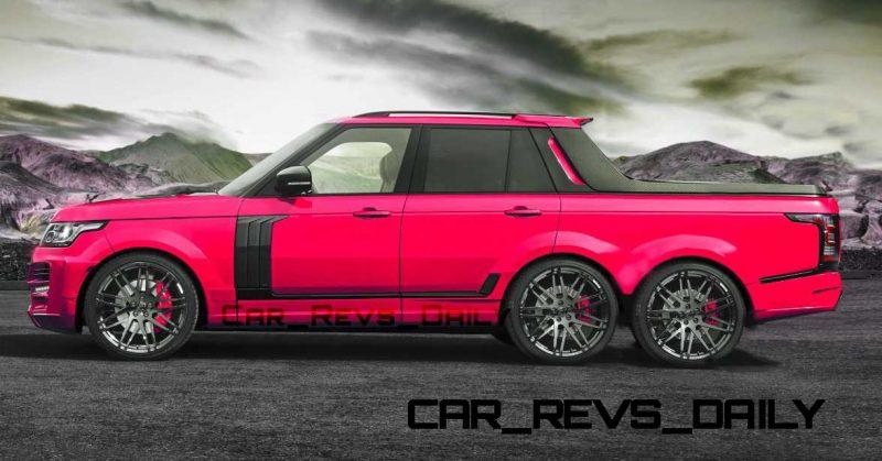 Digital Renderings - StarTech Range Rover 6x6 Long-Box Pickup Truck - 2 Angles + 30 Colors 3 copy