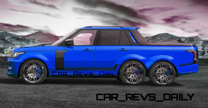 Digital Renderings - StarTech Range Rover 6x6 Long-Box Pickup Truck - 2 Angles + 30 Colors 5 copy