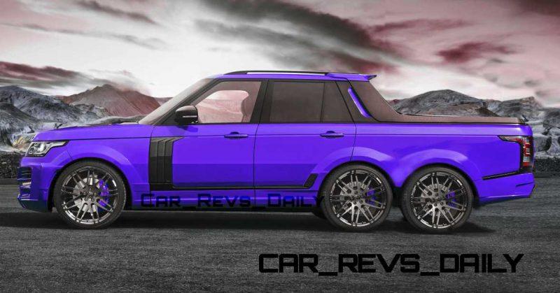 Digital Renderings - StarTech Range Rover 6x6 Long-Box Pickup Truck - 2 Angles + 30 Colors 6 copy