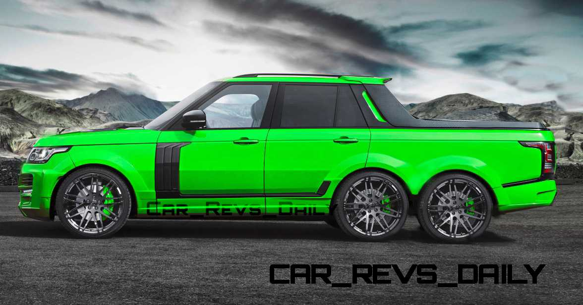 Digital Renderings Startech Range Rover 6 Long Box Pickup Truck 2 Angles 30 Colors 7 Copy