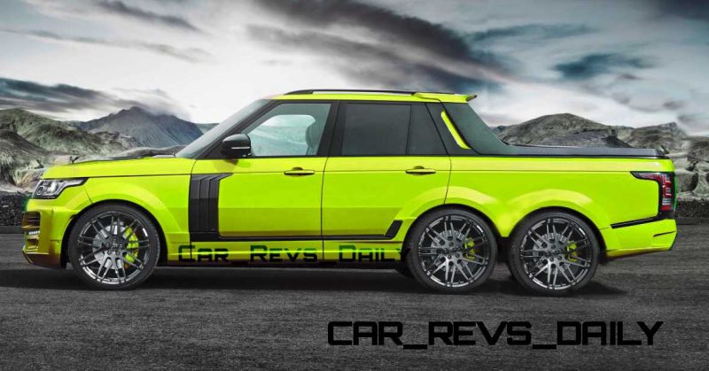 Digital Renderings - StarTech Range Rover 6x6 Long-Box Pickup Truck - 2 Angles + 30 Colors 8 copy
