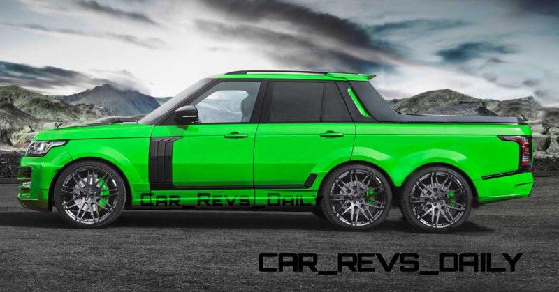 Digital Renderings - StarTech Range Rover 6x6 Long-Box Pickup Truck - 2 Angles + 30 Colors 9 copy