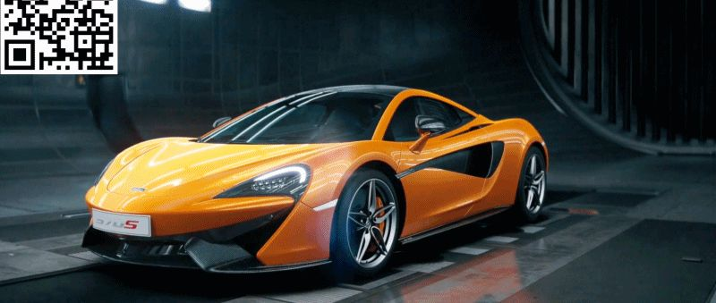 McLaren Black Swan Wind Tunnel 570S