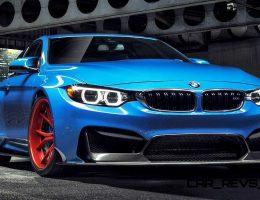 Vorsteiner GTRS4 Anniversary Edition Wears Superhero Blue over Red Wheels