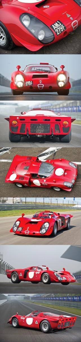 1968 Alfa Romeo T33-2 Daytona 11-vert