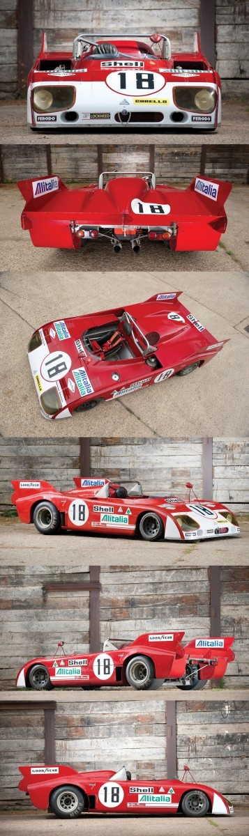 Racing Icons Series - 1972 Alfa Romeo Tipo 33TT3 Wears Stunning Batmobile Tailfins Racing Icons Series - 1972 Alfa Romeo Tipo 33TT3 Wears Stunning Batmobile Tailfins