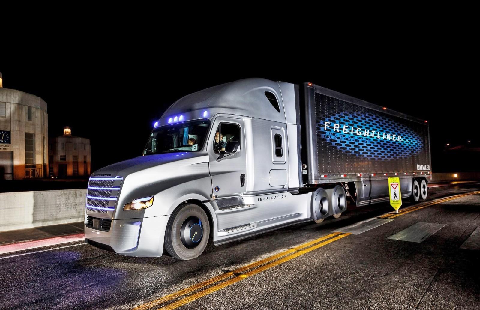 2015 freightliner inspiration truck concept. Black Bedroom Furniture Sets. Home Design Ideas