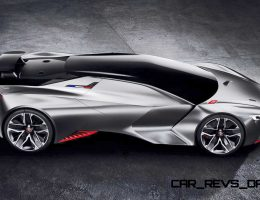 875HP, 1.7s 2015 Peugeot Vision Gran Turismo Is LMP1 Contender With Hypercar Beauty
