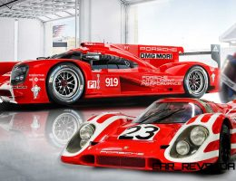2015 Porsche 919 Hybrid Adds Black and Red LeMans Liveries in 917K Salute