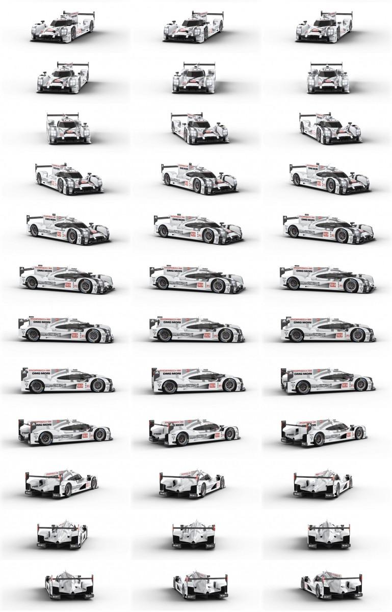 2015 Porsche 919 Hybrid 360-degree Turntable Images 44-tile