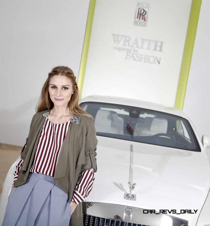 "Fashion Icon Olivia Palermo Receives A First Look At Rolls-Royce Motor Cars' Latest Design Creation, Wraith ""Inspired by Fashion"" During The Global Debut Of The Stunning New Motor Car At An Exclusive Event In The Heart Of New York City"