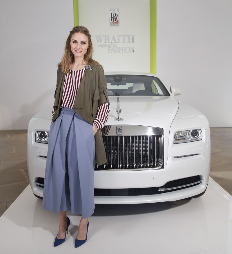 """Fashion Icon Olivia Palermo Receives A First Look At Rolls-Royce Motor Cars' Latest Design Creation, Wraith """"Inspired by Fashion"""" During The Global Debut Of The Stunning New Motor Car At An Exclusive Event In The Heart Of New York City"""