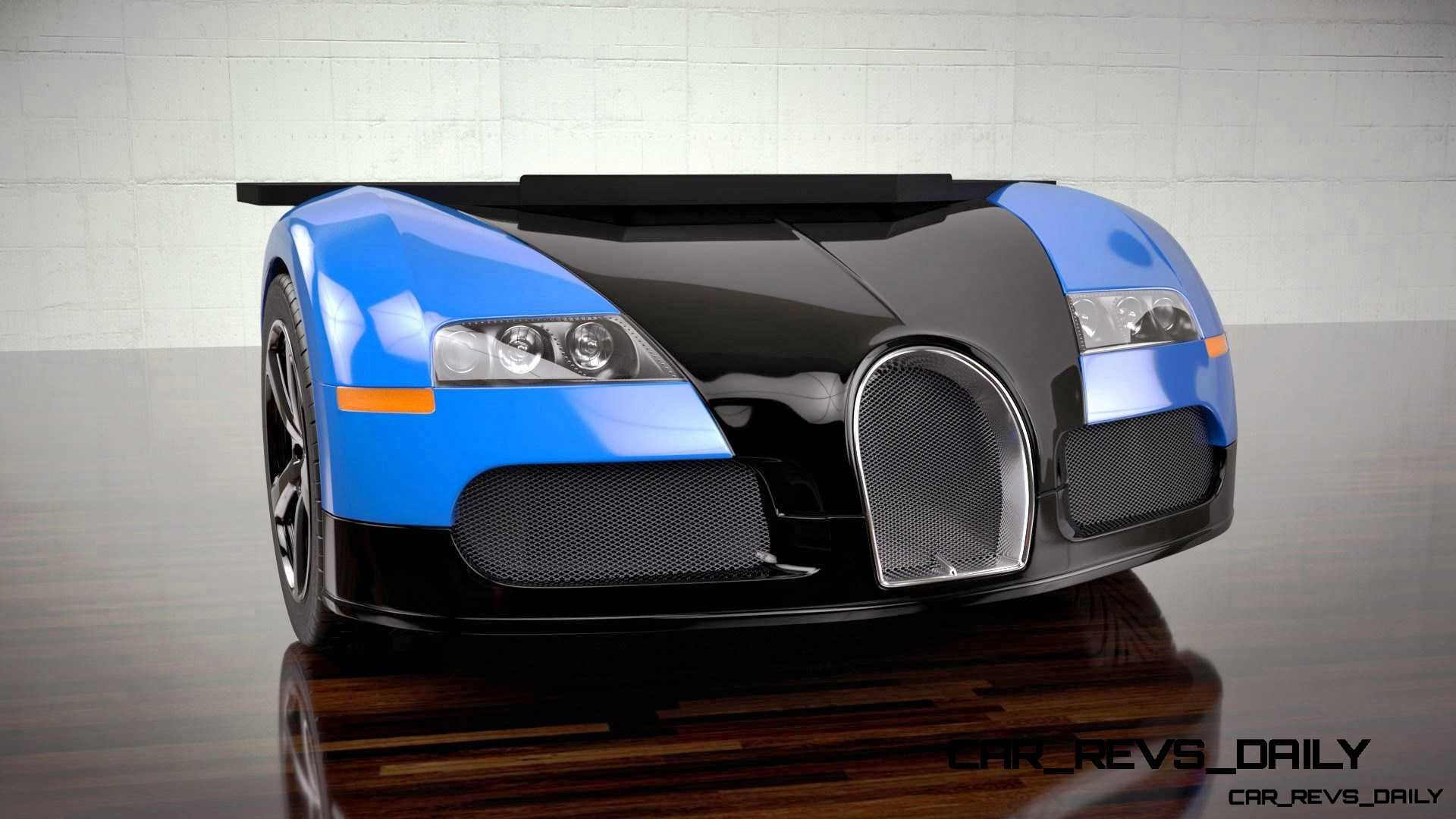 Design Epicentrum Supercar Office Desks - Bugatti Veyron 1