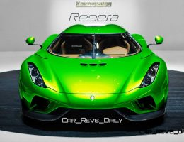 2016 Koenigsegg REGERA – Rendered Colorizer in 100 Images from 2 Angles