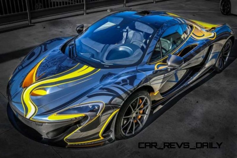 StickerCity 2015 McLaren P1 Black Chrome Art Car 1