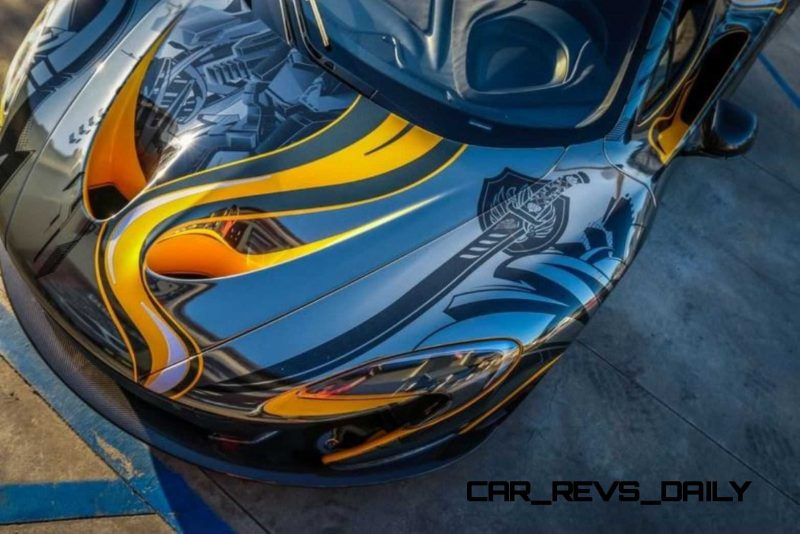 StickerCity 2015 McLaren P1 Black Chrome Art Car 10