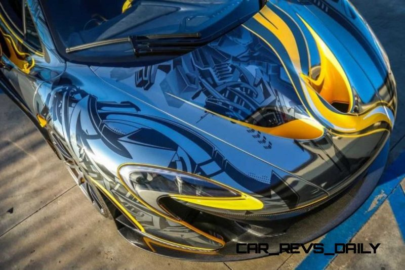 StickerCity 2015 McLaren P1 Black Chrome Art Car 11