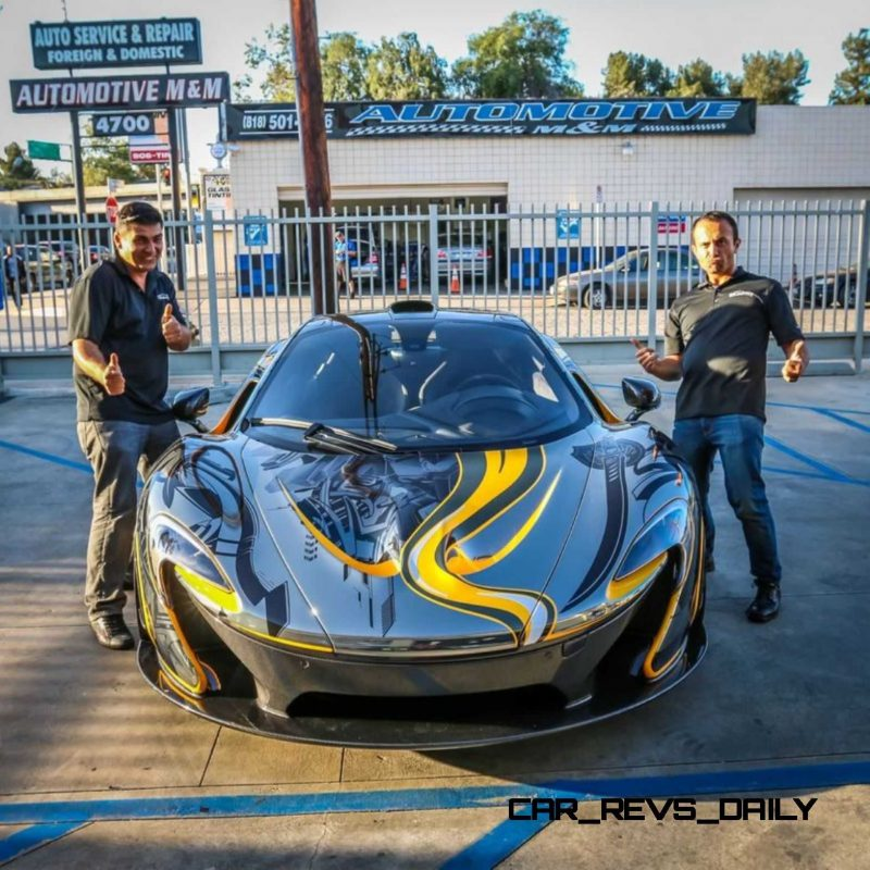StickerCity 2015 McLaren P1 Black Chrome Art Car 13