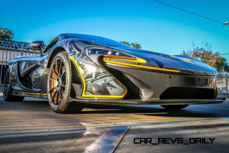 StickerCity 2015 McLaren P1 Black Chrome Art Car 14