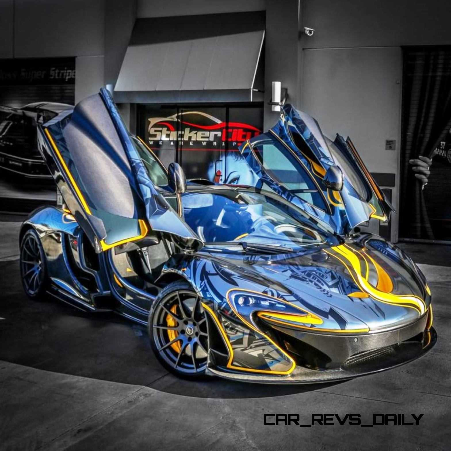 StickerCity 2015 McLaren P1 Black Chrome Art Car 2