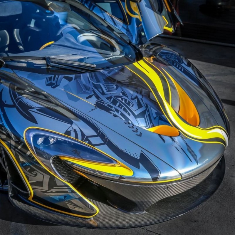 StickerCity 2015 McLaren P1 Black Chrome Art Car 3