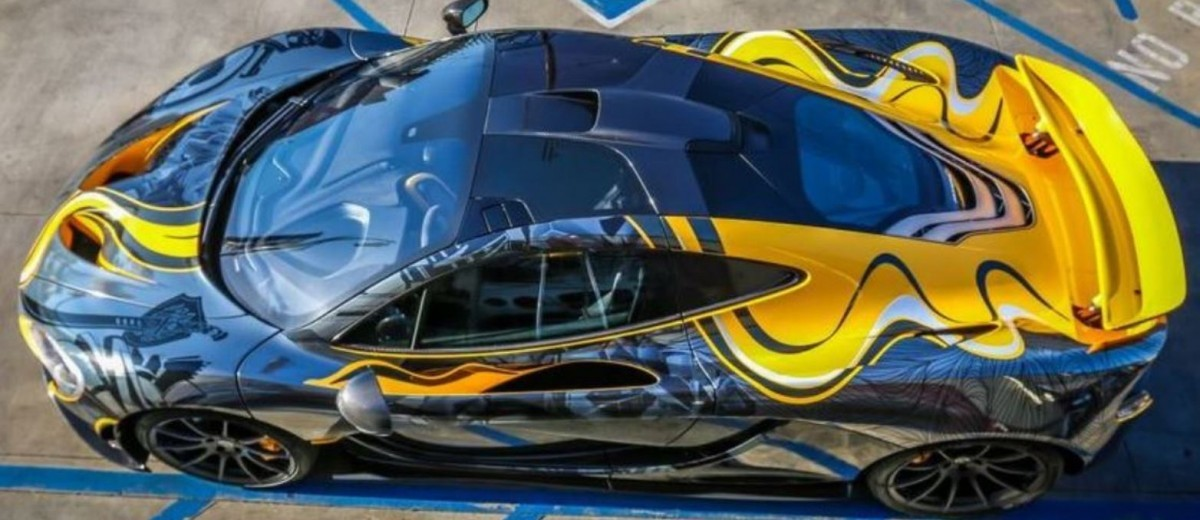 StickerCity 2015 McLaren P1 Black Chrome Art Car 4