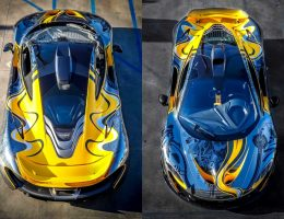 Tuner Showcase – StickerCity Creates 2015 McLaren P1 Black Chrome Art Car