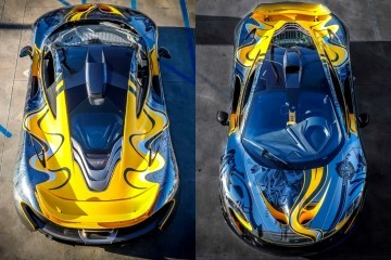 StickerCity 2015 McLaren P1 Black Chrome Art Car 5-horz