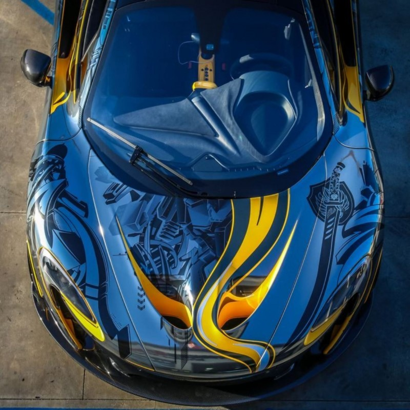 StickerCity 2015 McLaren P1 Black Chrome Art Car 7